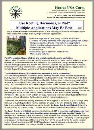 Use Rooting Hormones